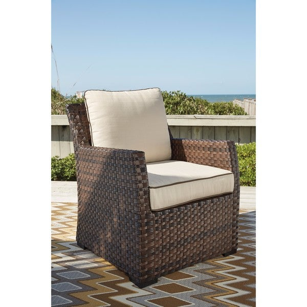 Delicieux Signature Design By Ashley Salceda Brown Lounge Chair With Cushion
