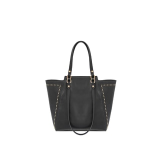 Mellow World Marina Black Faux-leather Studded Tote Bag