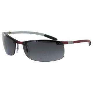 Ray Ban Tech RB8305 Carbon Fibre Semi Rimless Polarized Sunglasses