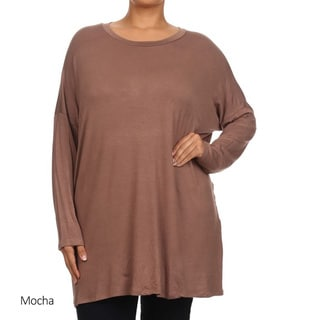Women's Plus-size Solid Tunic