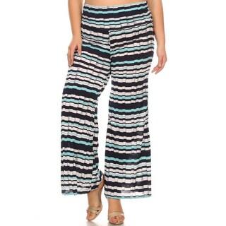 Women's Plus-size Faux-pleated Pants