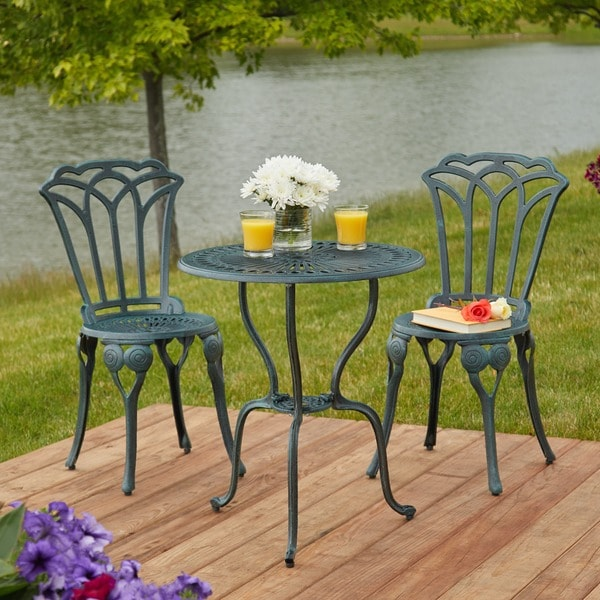 Simple Living 3 Piece Jade Bistro Set