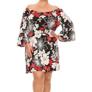 Women's Tropical Pattern Plus-size Dress
