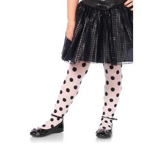 Leg Avenue Children's Nylon Sheer Printed Polka-dot Tights