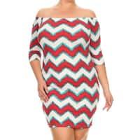 Women's Plus-size Chevron Bodycon Dress