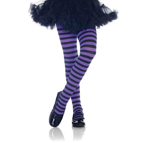 Leg Avenue Kid's Nylon Blend Stripe Tights
