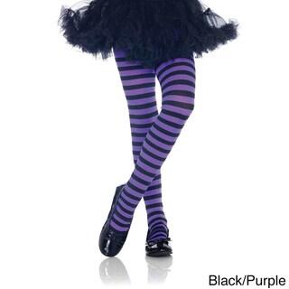 Leg Avenue Kid's Nylon Blend Stripe Tights