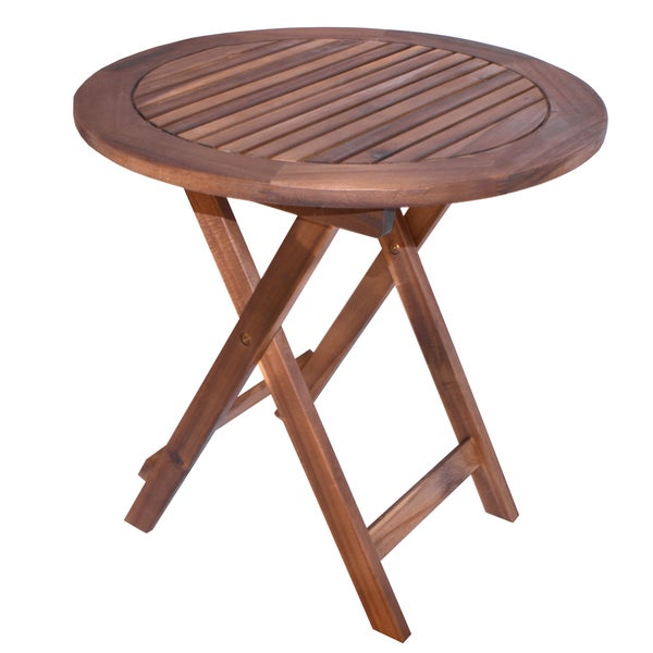 shop oasis outdoor round folding table free shipping