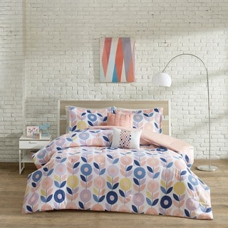 Urban Habitat Kids Millie Peach Cotton Printed 5-piece Comforter Set