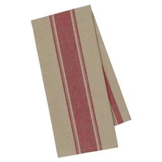 Red French Stripe Dishtowel- Set of 4