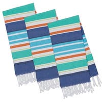 Beachy Blue Stripes Fouta Towel - Set of 3