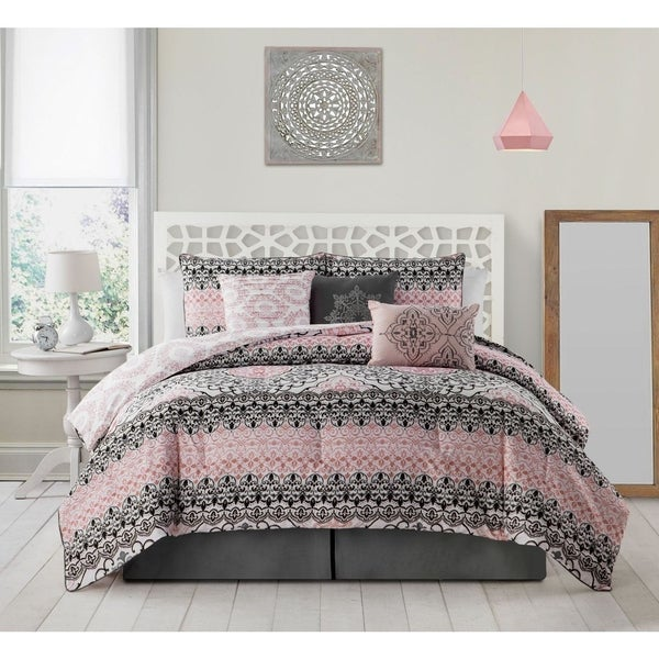 avondale manor celia 7 piece comforter set free shipping today 20773342. Black Bedroom Furniture Sets. Home Design Ideas