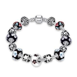 Trendy Omega Glass Charm Bracelets