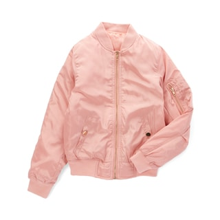 Spicy Mix Girls' Journee Pink Zippered Bomber Jacket
