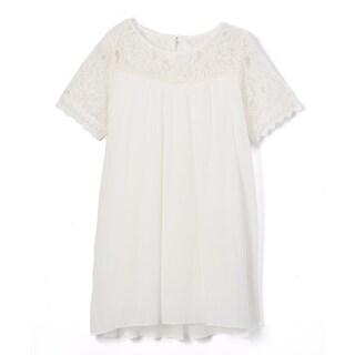 Spicy Mix Girls Keren Crochet Lace Keyhole Tunic Dress