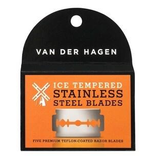 Van Der Hagen Stainless Steel Double Edge Razor Blades 5 Blades