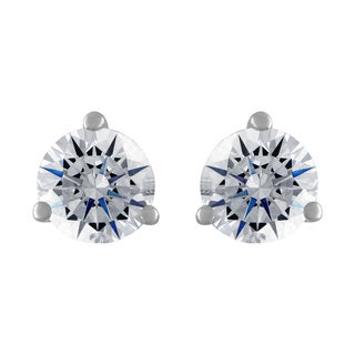18k White Gold 1/2ct TDW White Diamond Stud Earrings (G-H, SI2-I1)