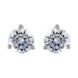 18k White Gold 1/2ct TDW White Diamond Stud Earrings