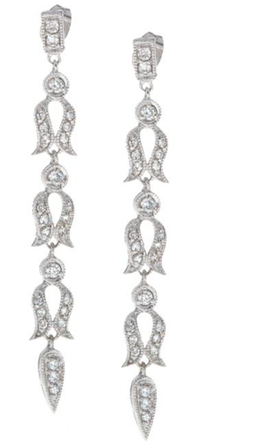 Icz Stonez Sterling Silver CZ Dangling Earrings