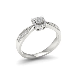 1/8ct TDW Diamond Engagement Ring in Sterling Silver