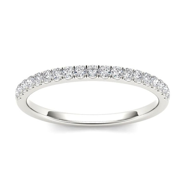 De Couer 14k White Gold 1/4ct TDW Wedding Band - White H-I