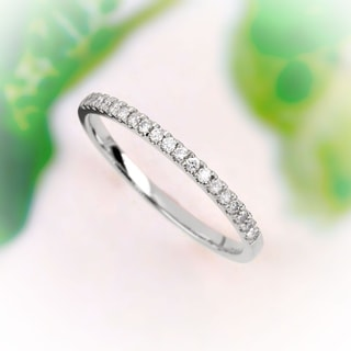 De Couer 14k White Gold 1/4ct TDW Wedding Band