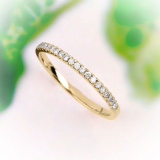 De Couer 14k Yellow Gold 1/4ct TDW Wedding Band