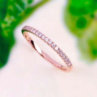 De Couer 14k Rose Gold 1/4ct TDW Wedding Band