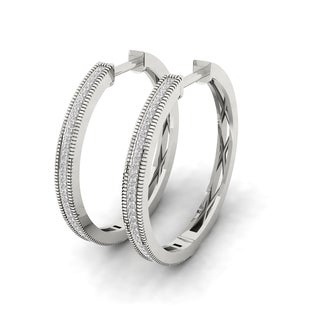 1/4ct Diamond Hoop Earrings in Sterling Silver