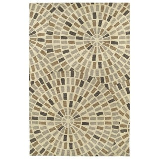 Hand-Tufted Lola Mosaic Brown Cobblestone Wool Rug (8'0 x 11'0)