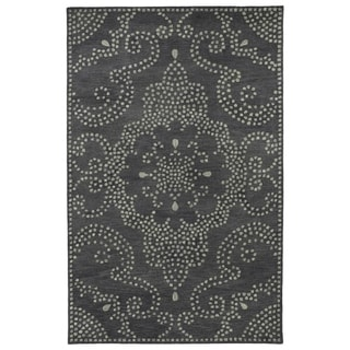 Hand-Tufted Lola Mosaic Charcoal Medallion Wool Rug (8'0 x 11'0)