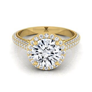 14k Yellow Gold 1 3/5ct TDW White Diamond Engagement Ring