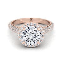 14k Rose Gold 1 3/5ct TDW White Diamond Engagement Ring