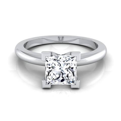 14k White Gold 1/2ct TDW White Diamond Engagement Ring (H-I, VS1-VS2)
