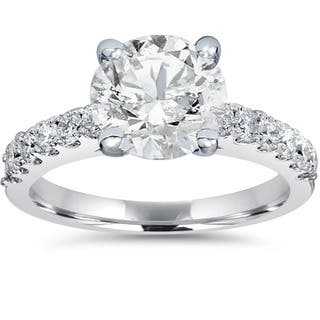 14k White Gold 1 1/2 ct TDW Diamond Clarity Enahcned Engagement Ring Solitaire With Accents 14K White Gold (H-I, SI2-I1)|https://ak1.ostkcdn.com/images/products/14180254/P20778379.jpg?impolicy=medium
