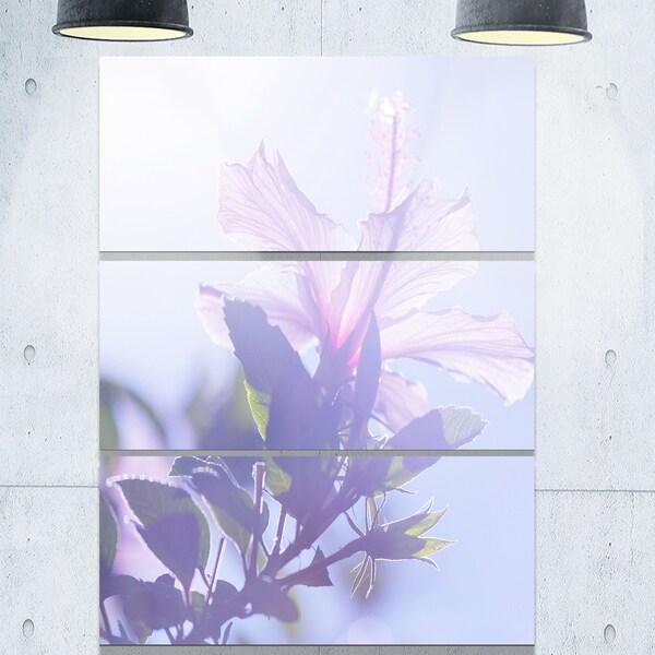 Designart u0026#x27;Pink Hibiscus Flower in Hawaiiu0026#x27; Large Flower Metal & Shop Designart u0027Pink Hibiscus Flower in Hawaiiu0027 Large Flower Metal ...