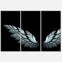 Designart 'Angel Wings on Black Background' Abstract Art Metal Wall Art