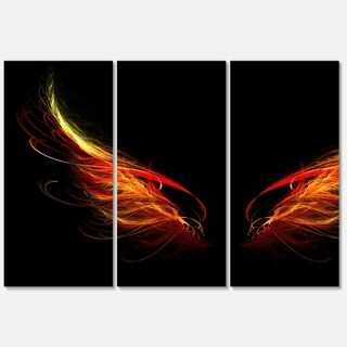 Designart 'H*ll Wings on Black Background' Abstract Glossy Metal Wall Art