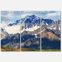 Designart 'Beautiful Caucasus Mountains' Landscape Glossy Metal Wall Art