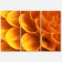 Designart 'Yellow Abstract Floral Design' Modern Floral Glossy Metal Wall Art