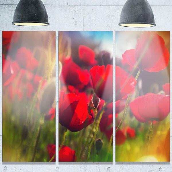 Shop designart thick red poppy flowers extra large floral glossy designart x27thick red poppy flowersx27 extra large floral glossy mightylinksfo
