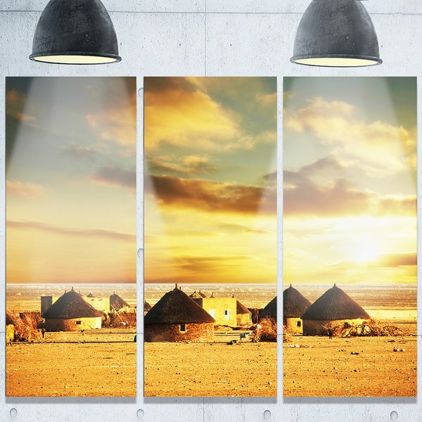 Designart \'Beautiful African Village Huts\' Extra Large African ...