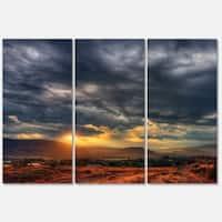 Designart 'Beautiful Sunrise in Osoyoos' Extra Large Landscape Art Metal Wall Art