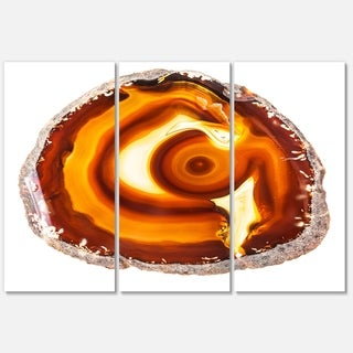 Designart 'Vibrant Agate Geode Slice' Large Abstract Glossy Metal Wall Art