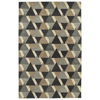 Hand-Tufted Lola Mosaic Charcoal Tiffany Wool Rug (5'0 x 7'9)