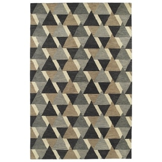 Hand-Tufted Lola Mosaic Charcoal Tiffany Wool Rug (8'0 x 11'0)