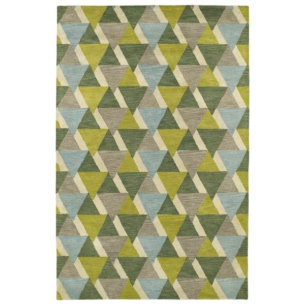 Lime Green Area Rug: Shop Hand-Tufted Lola Mosaic Lime Green Tiffany Wool Rug