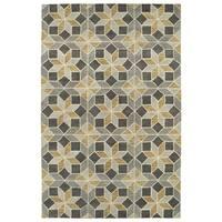 "Hand-Tufted Lola Mosaic Grey Wool Rug - 3'6"" x 5'6"""