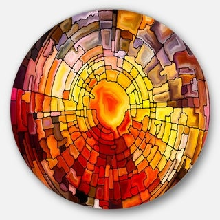 Designart 'Return Of Stained Glass' Contemporary Glossy Metal Wall Art (As Is Item)