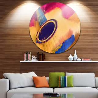 Designart 'Listen To The Colorful Music' Music Glossy Metal Wall Art